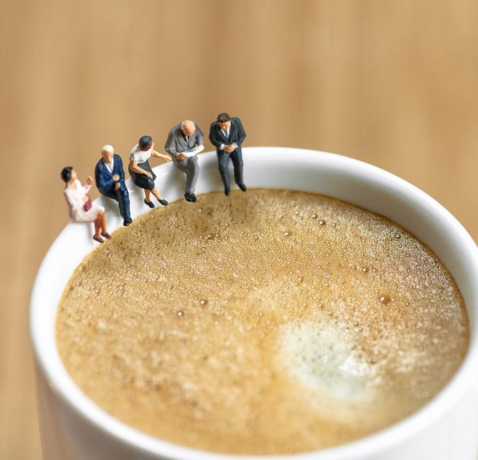 Veranschaulichung einer Kaffeepause